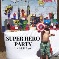 How to have a Super Hero Party under $50