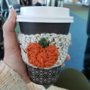 Pumpkin Spice Latte Coffee Sweater. Zero Waste Gift ideas