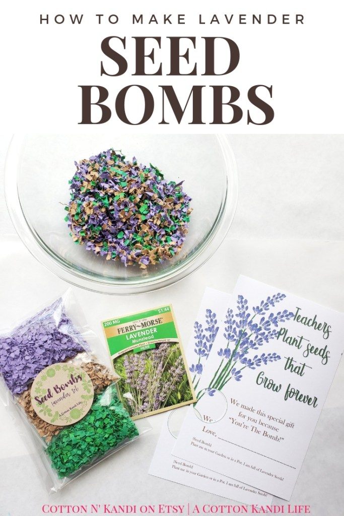 How to Make Lavender Seed Bombs. My boys LOVED making these DIY Seed Bombs to give to their Teachers for Teacher Appreciation Week. This would be a great Preschool Earth Day Lesson too! DIY Seed Bombs were fun, simple and cheap, plus the boys did it all on their own. I highly recommend this Kids DIY Project Idea for Mother's Day Gifts, Teacher Appreciation Week Gifts, Gifts for Grandmas and Earth Day Craft Projects.