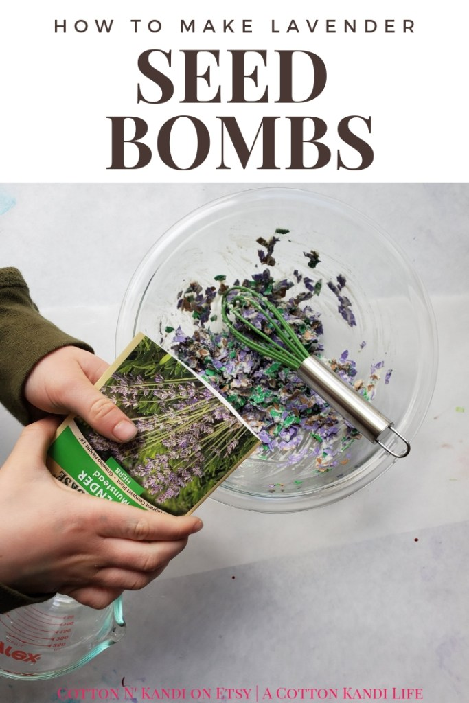 How to Make Lavender Seed Bombs for Earth Day. My boys LOVED making these DIY Seed Bombs to give to their Teachers for Teacher Appreciation Week. This would be a great Preschool Earth Day Lesson too! DIY Seed Bombs were fun, simple and cheap, plus the boys did it all on their own. I highly recommend this Kids DIY Project Idea for Mother's Day Gifts, Teacher Appreciation Week Gifts, Gifts for Grandmas and Earth Day Craft Projects.
