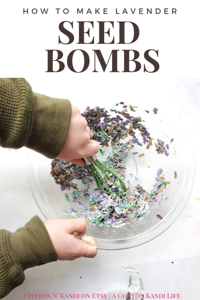 How to Make Lavender Seed Bombs. My boys Loved this super simple Earth Day Craft Project. We made Lavender Seed Bombs to give as gifts and plant in our own garden. It was fun and easy Recycling Lesson Plan and Upcycle Project.