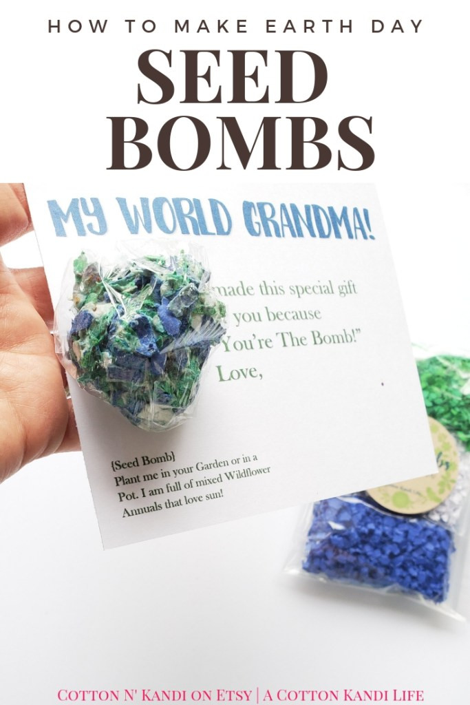 Tell Grandma, You ROCK My World with Earth Day Seed Bombs. My boys LOVED making these DIY Seed Bombs to give to their Teachers for Teacher Appreciation Week. This would be a great Preschool Earth Day Lesson too! DIY Seed Bombs were fun, simple and cheap, plus the boys did it all on their own. I highly recommend this Kids DIY Project Idea for Mother's Day Gifts, Teacher Appreciation Week Gifts, Gifts for Grandmas and Earth Day Craft Projects.