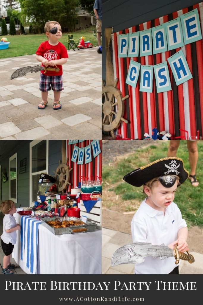 How to throw a Pirate Birthday Party for Under $100. 5 Tips I use to keep my Birthday Parties under Budget. Pirate Birthday Party Ideas and Pirate Party Decorations. Third Birthday Theme Ideas. Fun Birthday Themes for Toddlers. Easy Kids Birthday Themes.
