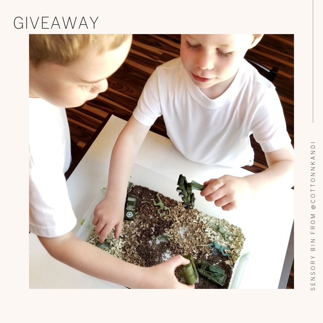 Sensory Bin GIVEAWAY | Memorial Day