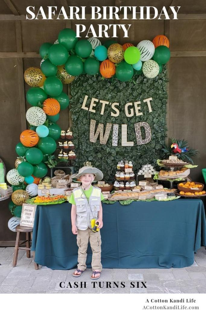 Let's get WILD and talk about how I threw a Safari Themed Party for my son's 6th birthday. From the Safari Birthday Party Games to Safari Birthday Party Food Ideas we've got them all.  * Jungle Birthday Party Decorations. Safari Birthday Party Ideas. Safari Baby Shower Ideas. Safari Birthday Party Balloon Garland. DIY Balloon Garland. Jungle Party Balloon Garlands. Safari Birthday Party Food Table Ideas. 6th Birthday Party Themes