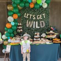 Safari Themed  6th Birthday Party