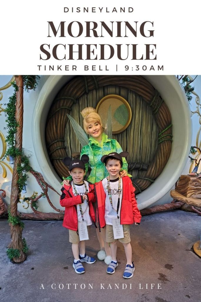 Get the most out of your Disneyland Ride Schedule by having a game-plan set before you get there. I'm sharing our experience and what we did so you can use it as a Schedule Template to map out your Disneyland Itinerary.  * When to visit Tinker Bell: Everything you need to know about your Disneyland Morning Ride Schedule from where to start with young kids to how we did 10 rides in 2 hours.