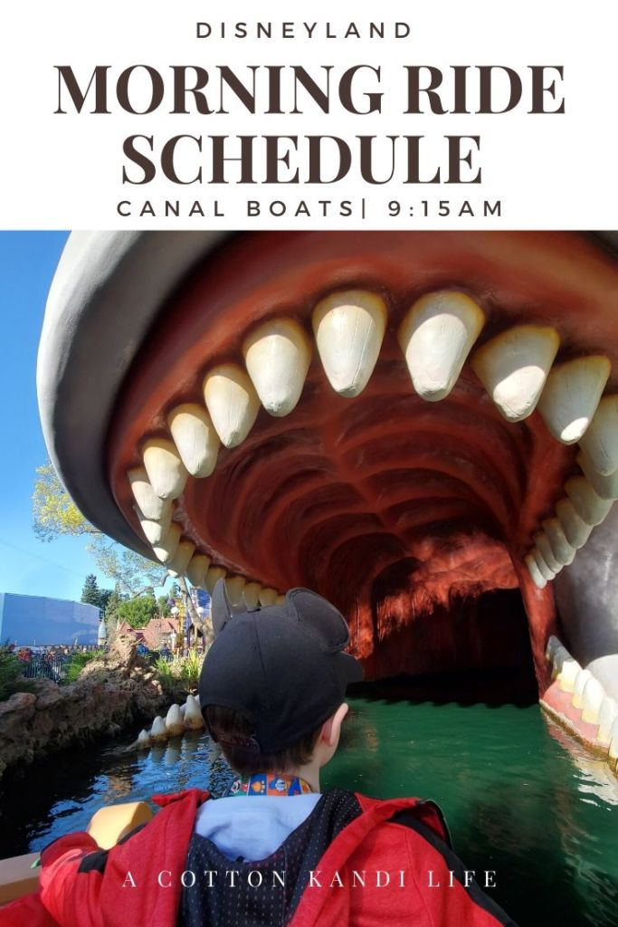 Get the most out of your Disneyland Ride Schedule by having a game-plan set before you get there. I'm sharing our experience and what we did so you can use it as a Schedule Template to map out your Disneyland Itinerary.  * When to ride the Canal Boats: Everything you need to know about your Disneyland Morning Ride Schedule from where to start with young kids to how we did 10 rides in 2 hours.