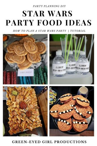 Planning the Party Food might be my favorite part of every birthday. You can tell we had a lot of fun with this Star Wars Theme. You can find a lot of Inspirations and Party Ideas here too, but desserts, snacks and signature drinks are my favorite!