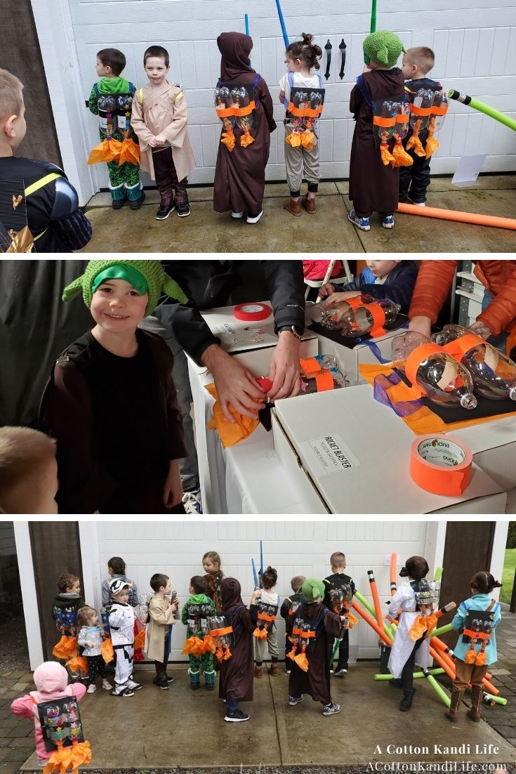 The kids had a BLAST at this Star Wars Birthday with Pool Noodle Light Sabers and Rocket Blasters. Party, complete with Yoda Soda, Wookie Cookies, Rocket Blasters and Lightsaber Training! For all the Star Wars Food Ideas and Party Games for Kids, I've got the inspo!  How to Throw a Star Wars Party