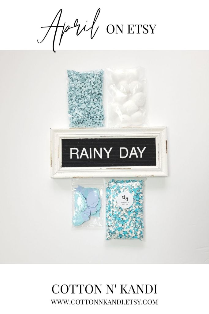 Our next April inspired Sensory Bin is titled Rainy Day, and it includes paper rain drops! Complete with Glitter Sky Paper Sprinkles and Cotton Ball Clouds.  * SHOP this Bin: https://www.etsy.com/listing/985018709/sensory-bin-rainy-day-blair-waldorf-toys?ref=shop_home_active_12&pro=1 * . . #cottonnkandi #etsyhandmade #etsysellersofinstagram #etsyfind #sensoryplay #sensorybinideas #sensorybin #discoverylearning #sensorytoys #playideas #learnthroughplay #learningthroughplay #toddleractivities #finemotorskills #invitationtoplay #playbasedlearning #montessoriinspired  #kidactivities #playmatters #earlylearning #preschoolactivities #letthemplay #playandlearn #sensory #creativitymatters #Creativityfound #earlychildhoodeducation #shopetsy #totschool