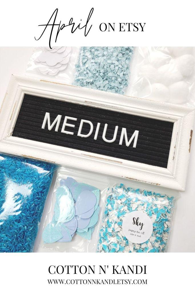Upgrade to the Medium Sensory Bin Kit to get 6 Rainy Day Textures. The Medium Kit adds in Blue Rainbow Rice and White Glitter Paper Clouds!  SHOP this Bin: https://www.etsy.com/listing/985018709/sensory-bin-rainy-day-blair-waldorf-toys?ref=shop_home_active_12&pro=1 * . #cottonnkandi #etsyhandmade #etsysellersofinstagram #etsyfind #sensoryplay #sensorybinideas #sensorybin #discoverylearning #sensorytoys #playideas #learnthroughplay #learningthroughplay #toddleractivities #finemotorskills #invitationtoplay #playbasedlearning #montessoriinspired  #kidactivities #playmatters #earlylearning #preschoolactivities #letthemplay #playandlearn #sensory #creativitymatters #Creativityfound #earlychildhoodeducation #shopetsy #totschool