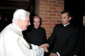 Greeting Pope Benedict at Kenthurst Study Centre, Sydney