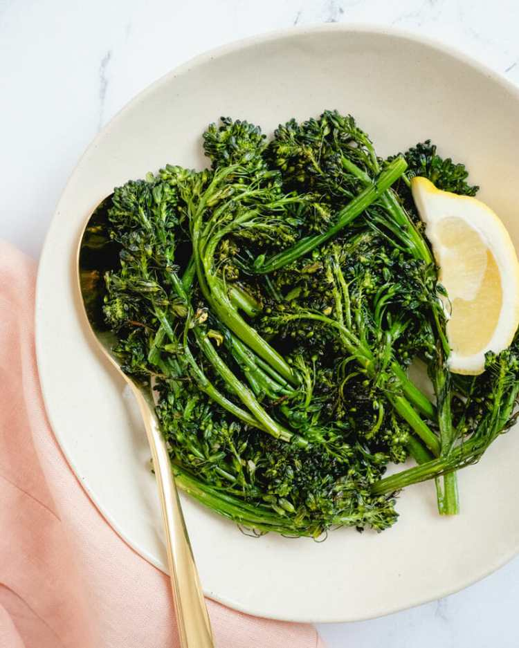 Roasted broccolini with lemon