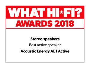 What Hi Fi Awards 2018 AE1 Active Best Buy Logo