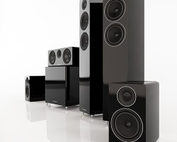 Acoustic Energy 300 Series Group Shot (Black)