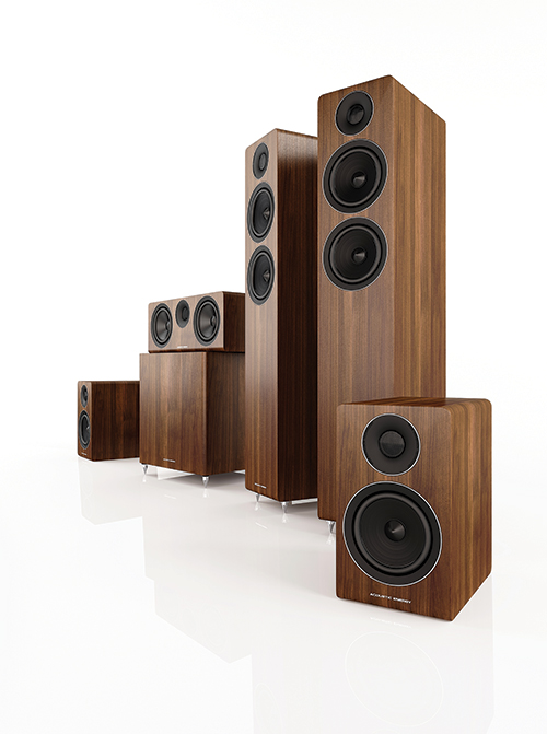 Acoustic Energy 300 Series Group Shot (Walnut)