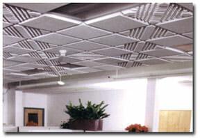 groove melamine foam acoustical ceiling tiles