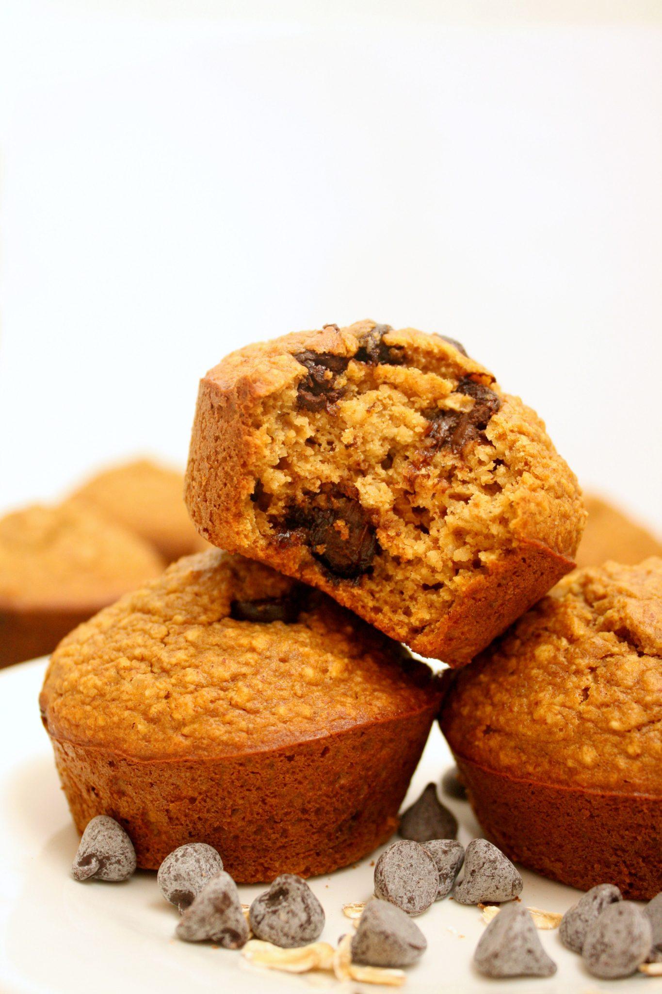 Muffins saudáveis. Absolutamente deliciosas! (Sem farinha, glúten, açúcar refinado, laticínios ou óleo)