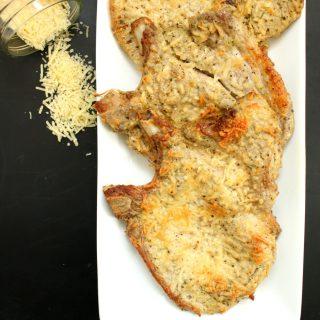 Bisteca de Porco com Mostarda e Parmesão (Low Carb)