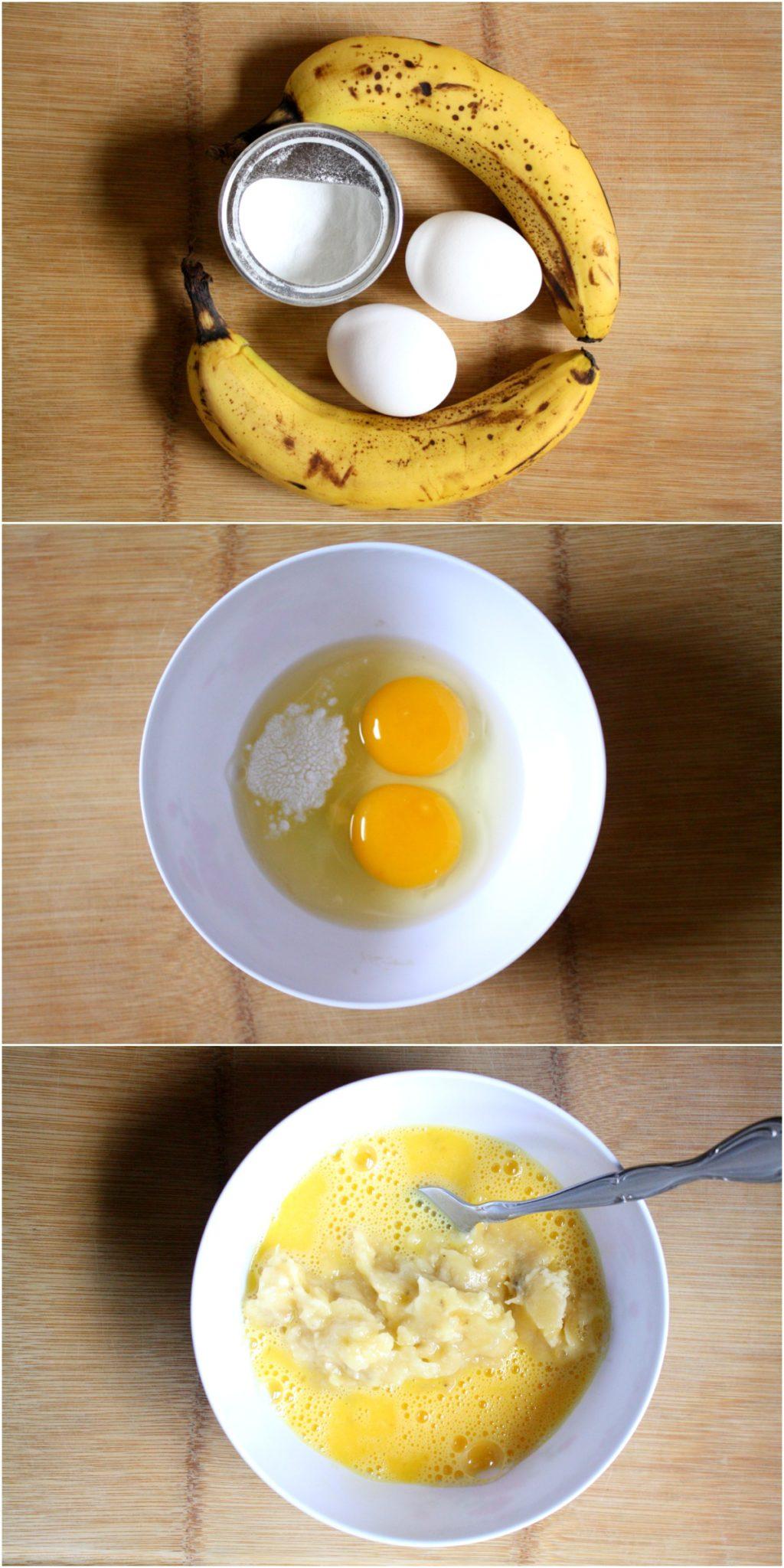 Panqueca de banana fit com apenas 3 ingredientes!
