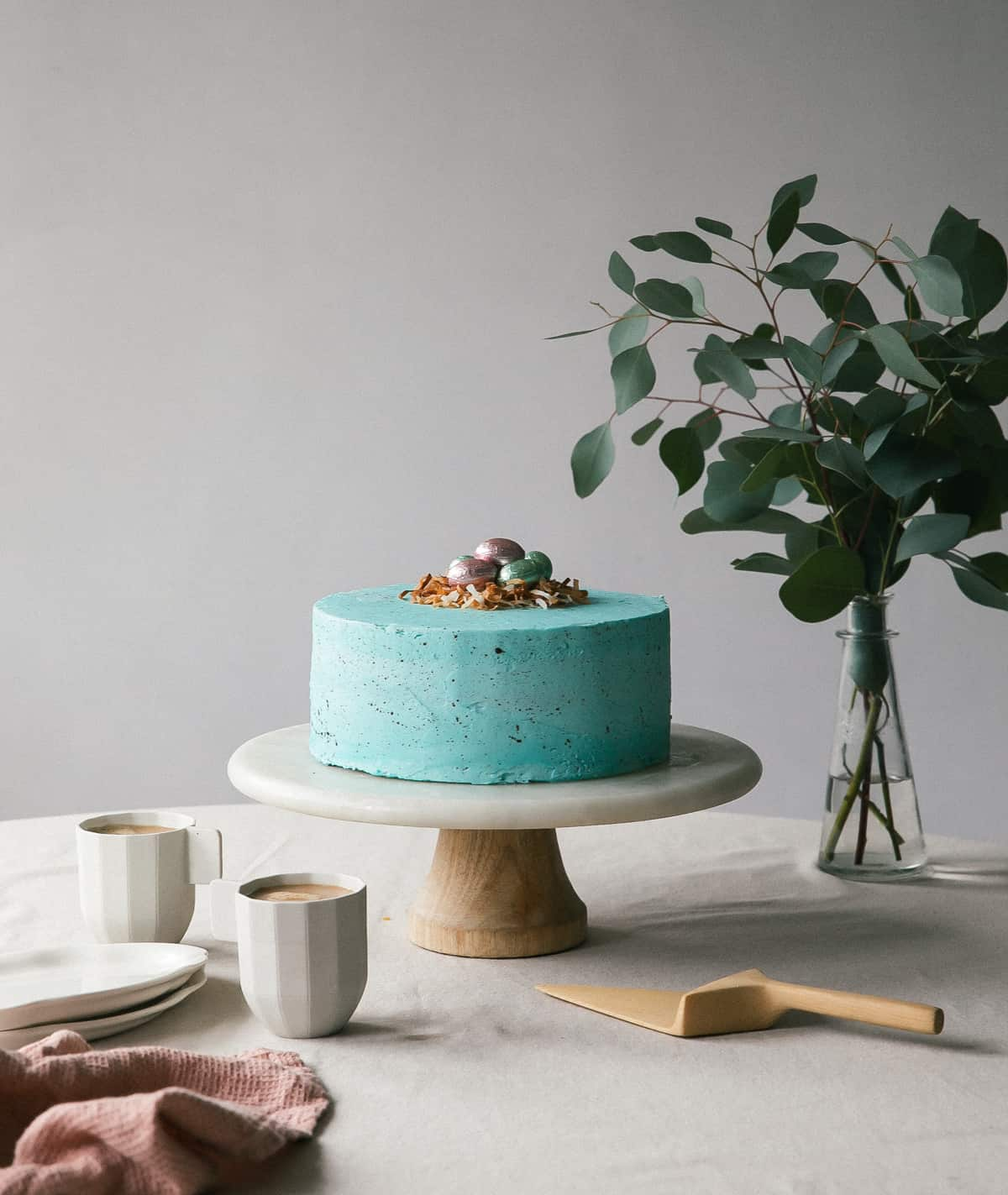 Speckled Egg Cake Easy Easter Recipe A Cozy Kitchen