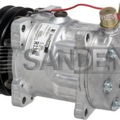 Chevrolet Wiring Diagrams Schematic Diagram Of Circulatory System New Original Sanden Compressor 4664 (1101233) - Ac Parts Warehouse