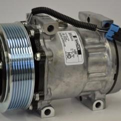 Ac Compressor 1973 Triumph Tr6 Wiring Diagram New Original Sanden 4885 1101310 Parts
