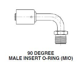90 DEGREE STEEL BEADLOCK MALE INSERT O-RING (MIO) Archives