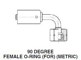 90 DEGREE STEEL BEADLOCK FEMALE O-RING (FOR) (METRIC