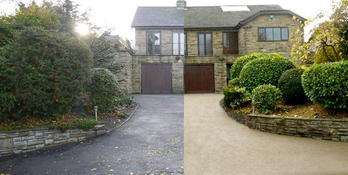 Driveway Designs Before and After Pics