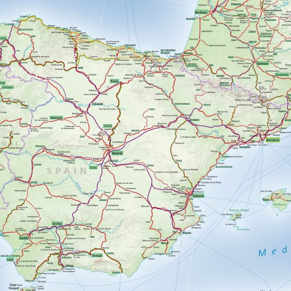 Map Italy Train Routes