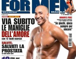 Perez sulla copertina di For Men Dicembre 2013  AS
