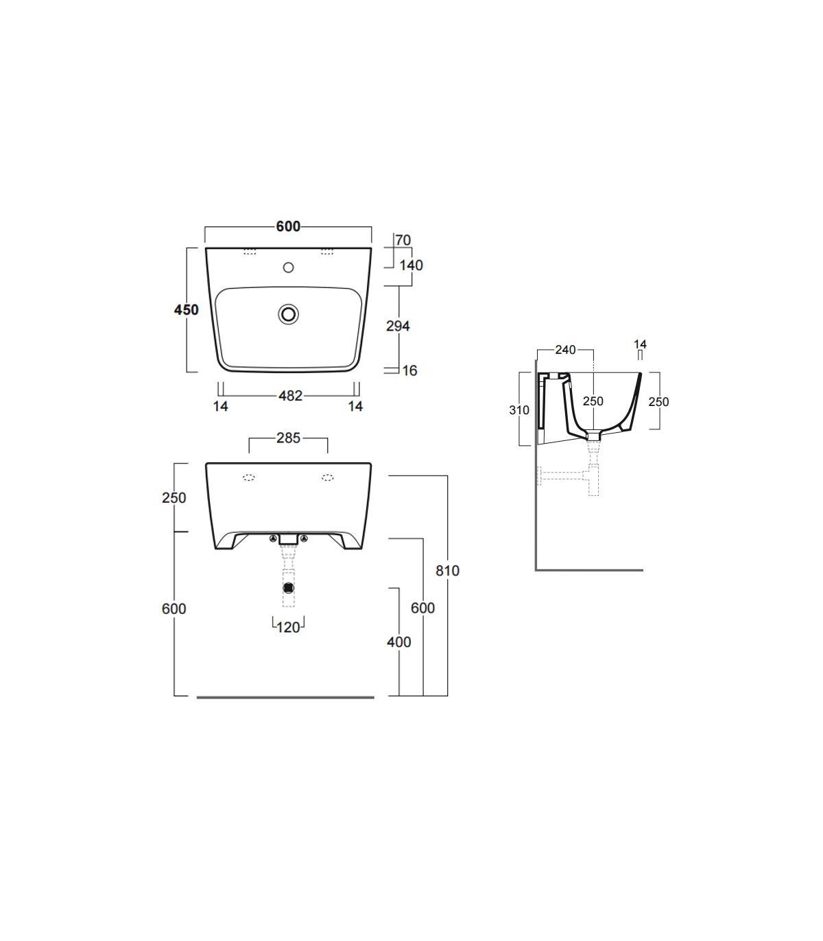 Lavatoio Con Mobile E Porta Lavatrice Geromin Collezione Smart Art7009SMARTCL