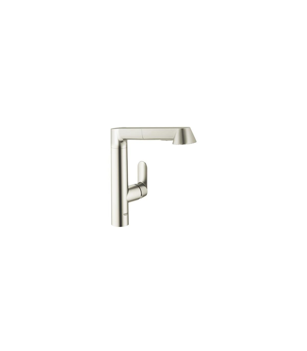 mitigeur cuisine avec douchette extractibleses grohe collection k7