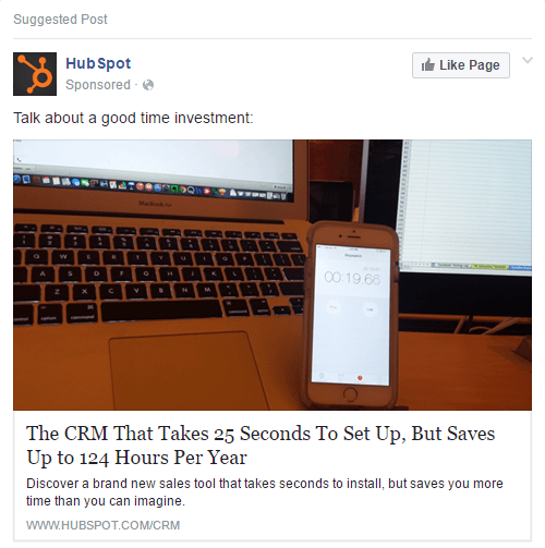 Writing Facebook Ads -proof hubspot