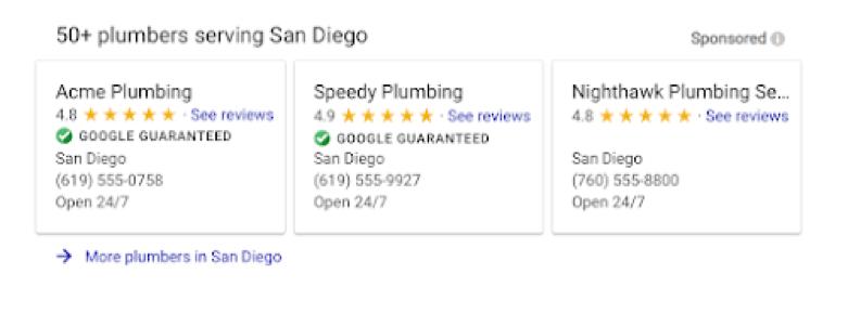 plumbers serving san diego listings screenshot