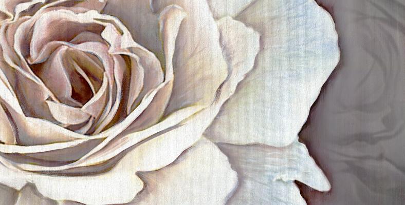 quadro con fiori moderno rosa gigante tela montmartre