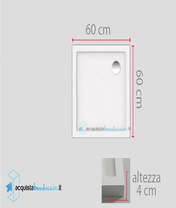 Vendita piatto doccia 60x60 cm altezza 4 cm
