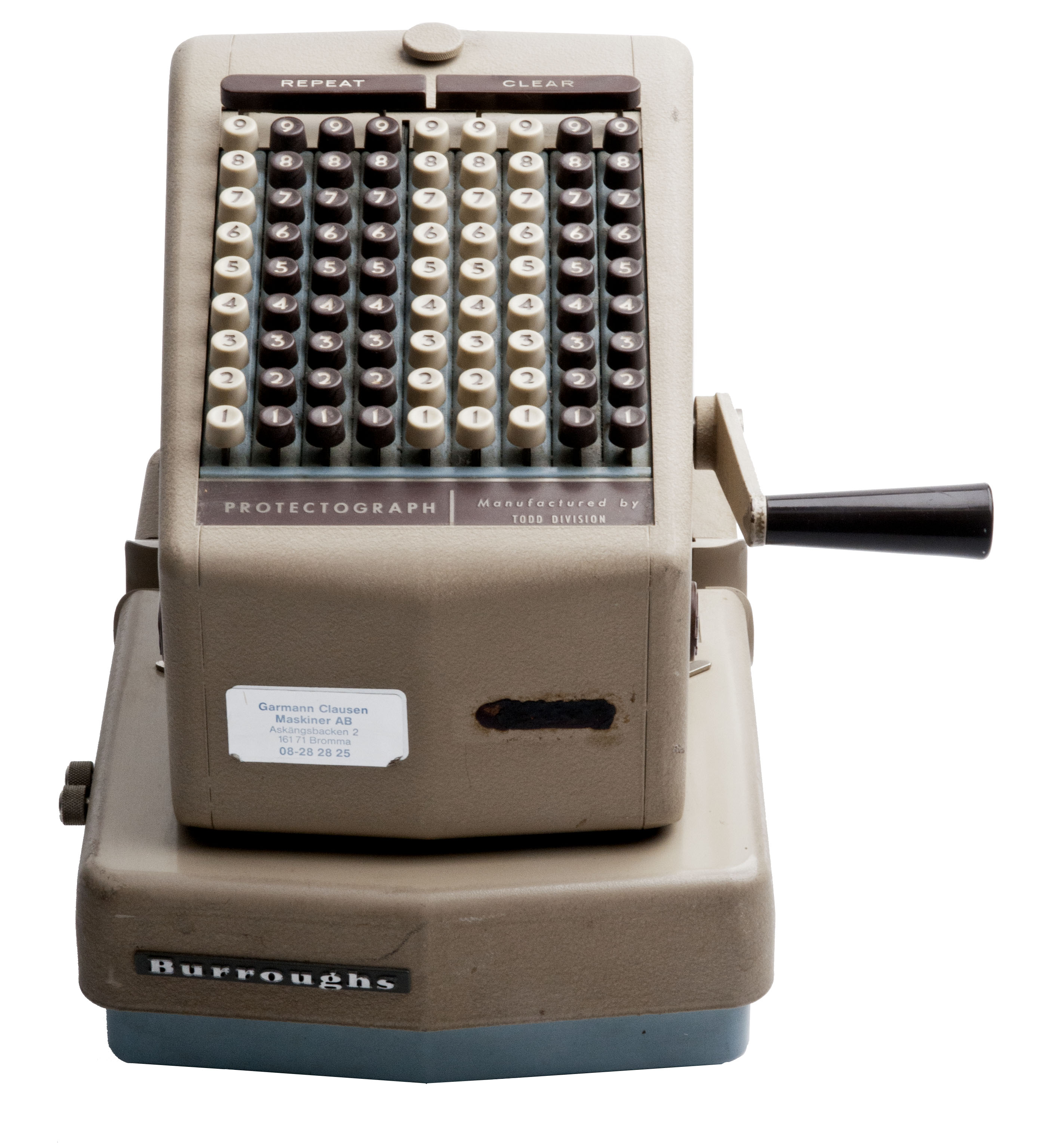 Burroughs Protectograph Check Writer T70 9