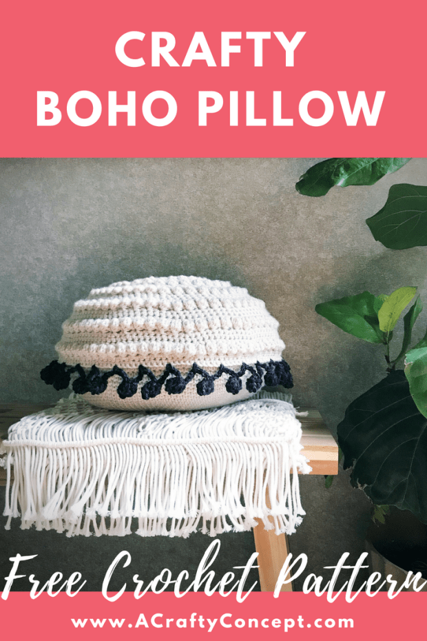 Crafty Boho Pillow Free Crochet Pattern A Crafty Concept