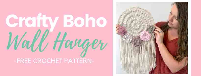 Crafty Boho Flower Wall Hanger