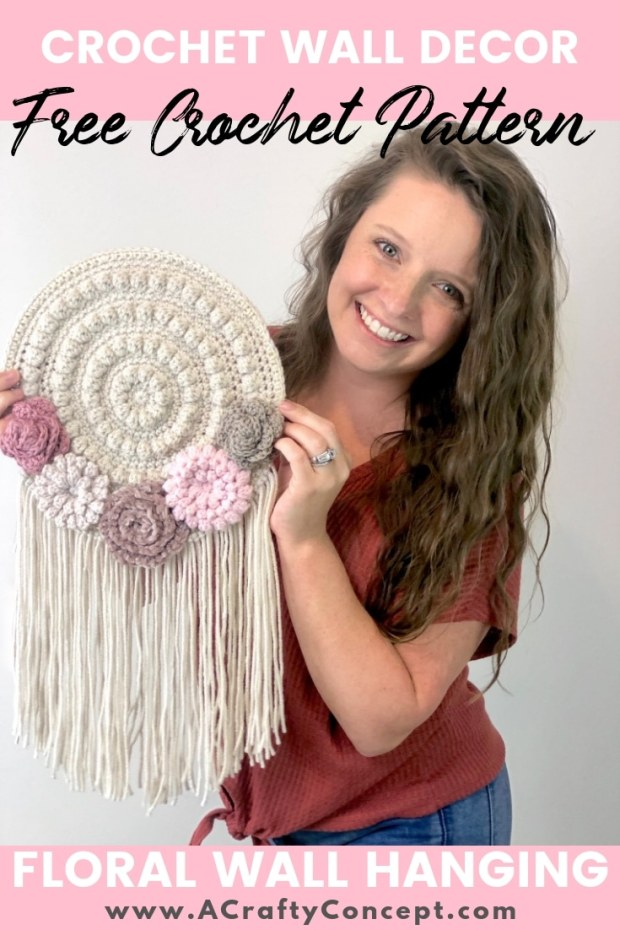 HOW TO MAKE AN EASY CROCHET TAPESTRY- QUICK AND FREE PATTERN #crochettapestry #walltapestry