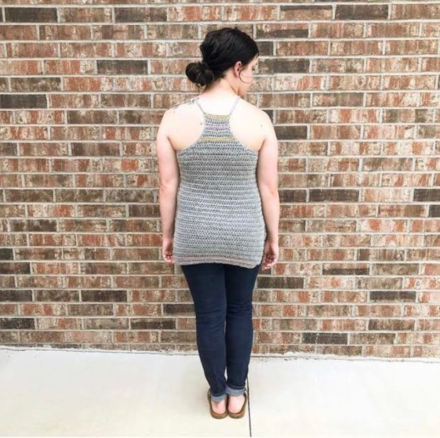 This simple crochet halter top pattern is perfect for beginners and can easily be adjusted to fit nearly any body type!