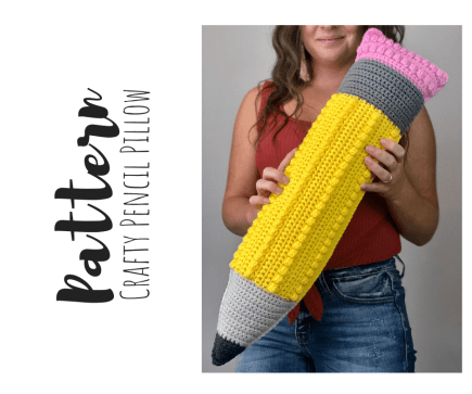 Crochet Giant Pencil Pillow Pattern PDF