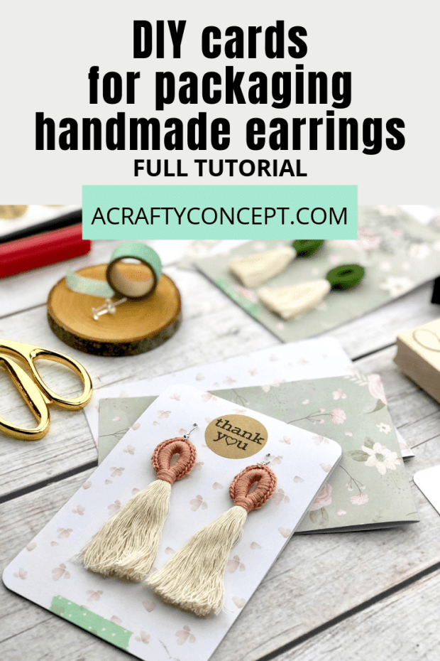 Learn how to make simple cardstock earring cards that will take your packaging game to a whole new level.