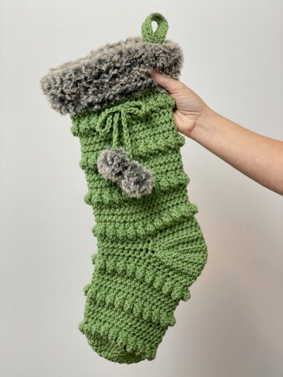 Crochet Christmas Stocking Pattern by A Crafty Concept
