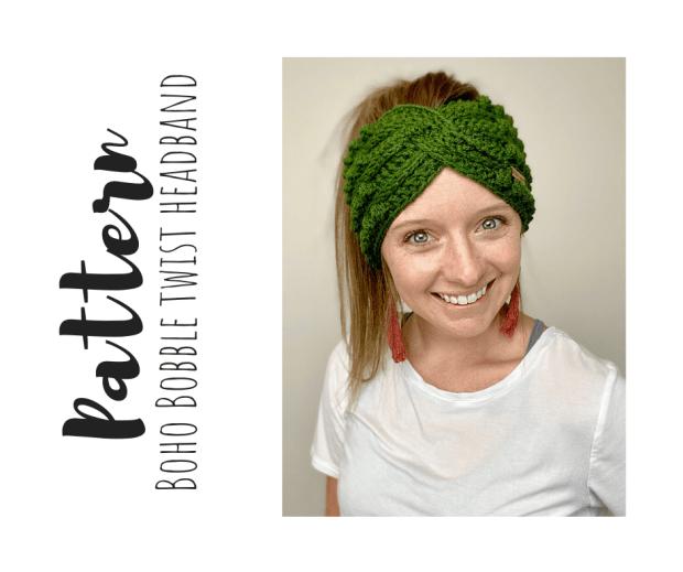 PDF Crochet Pattern for Twisted headband style ear warmer. $3.