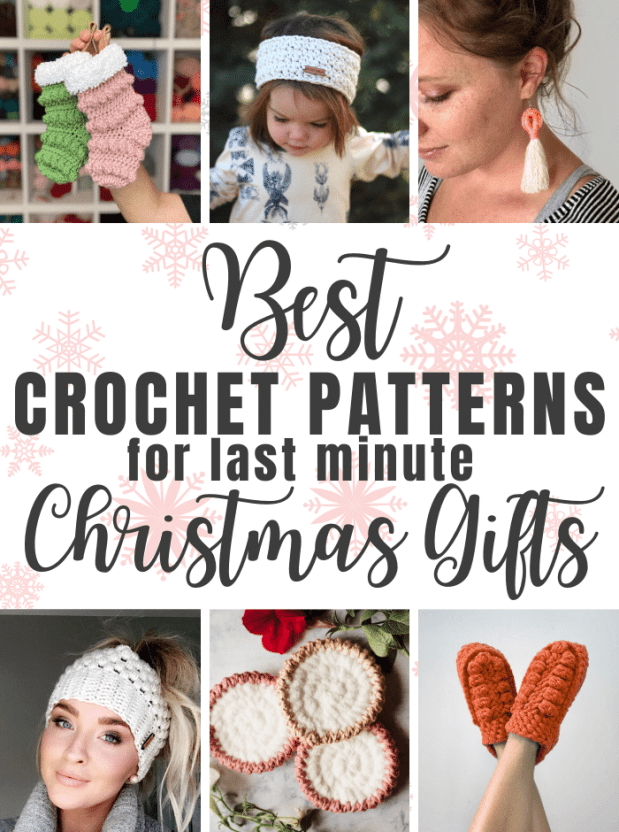 Running out of time to get your orders out and make Christmas gifts for your loved ones? Here's a list of easy crochet patterns that work up super fast!