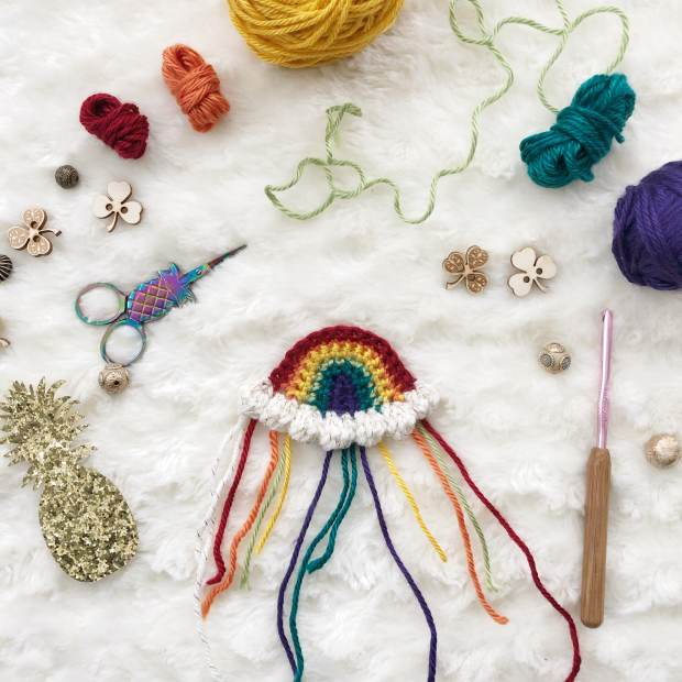 Crochet Rainbow - Free Crochet Pattern by The Plush Pineapple